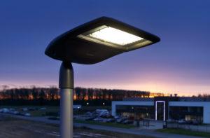 Sparsame LED-Straßenbeleuchtung im Hansa-Businesspark Foto: Münsterview/Tronquet
