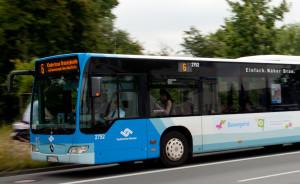 Linie 6 unterwegs in Richtung Hiltrup